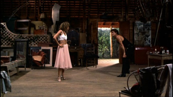 Baby's pink skirt in Dirty Dancing
