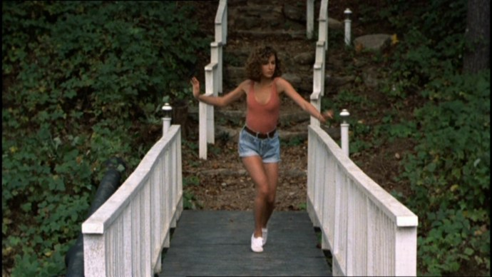 Baby's short demin shorts and nude bodysuit in Dirty Dancing