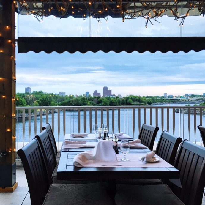 Casino Lac Leamy Gatineau Ottawa Fashion Blog Arome Restaurant Terrace patio view
