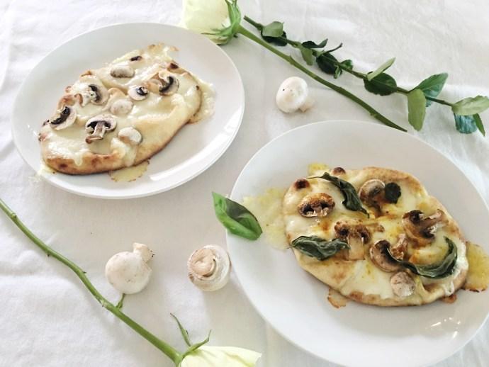 Diner en blanc Ottawa Fashion Blog White dinner menu idea naan pizza and mushroom 2