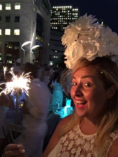 Diner en Blanc 2016 Ottawa Fashion Blog 16 Sparklers at night