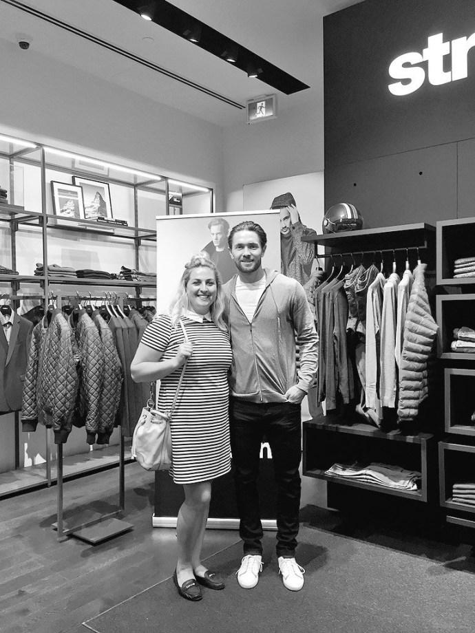 Strellson CF Rideau Centre Ottawa Men's Fashion Blog Zack Smith Senators