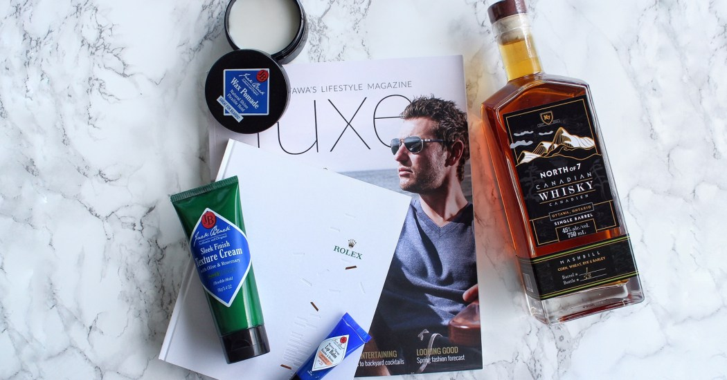 Father's Day gift ideas Ottawa Beauty Blog Fashion Blogger Luxe Magazine Rolex Jack Black North of 7 Whisky
