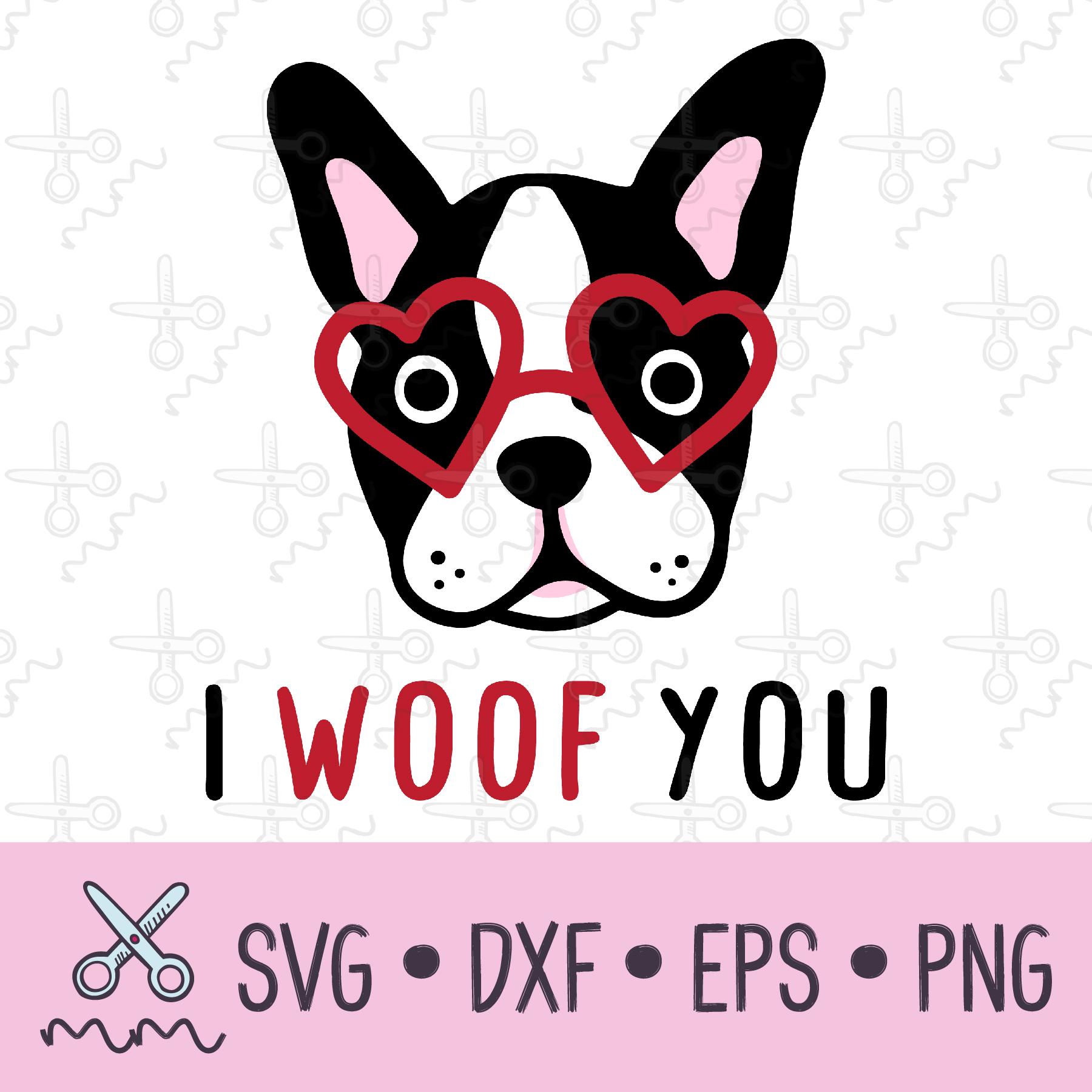 Download I Woof You Dog Valentine SVG - The Modish Maker