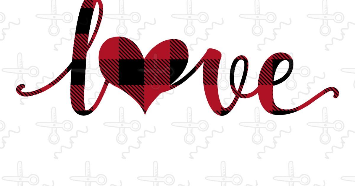 Download Plaid Love Heart SVG - The Modish Maker