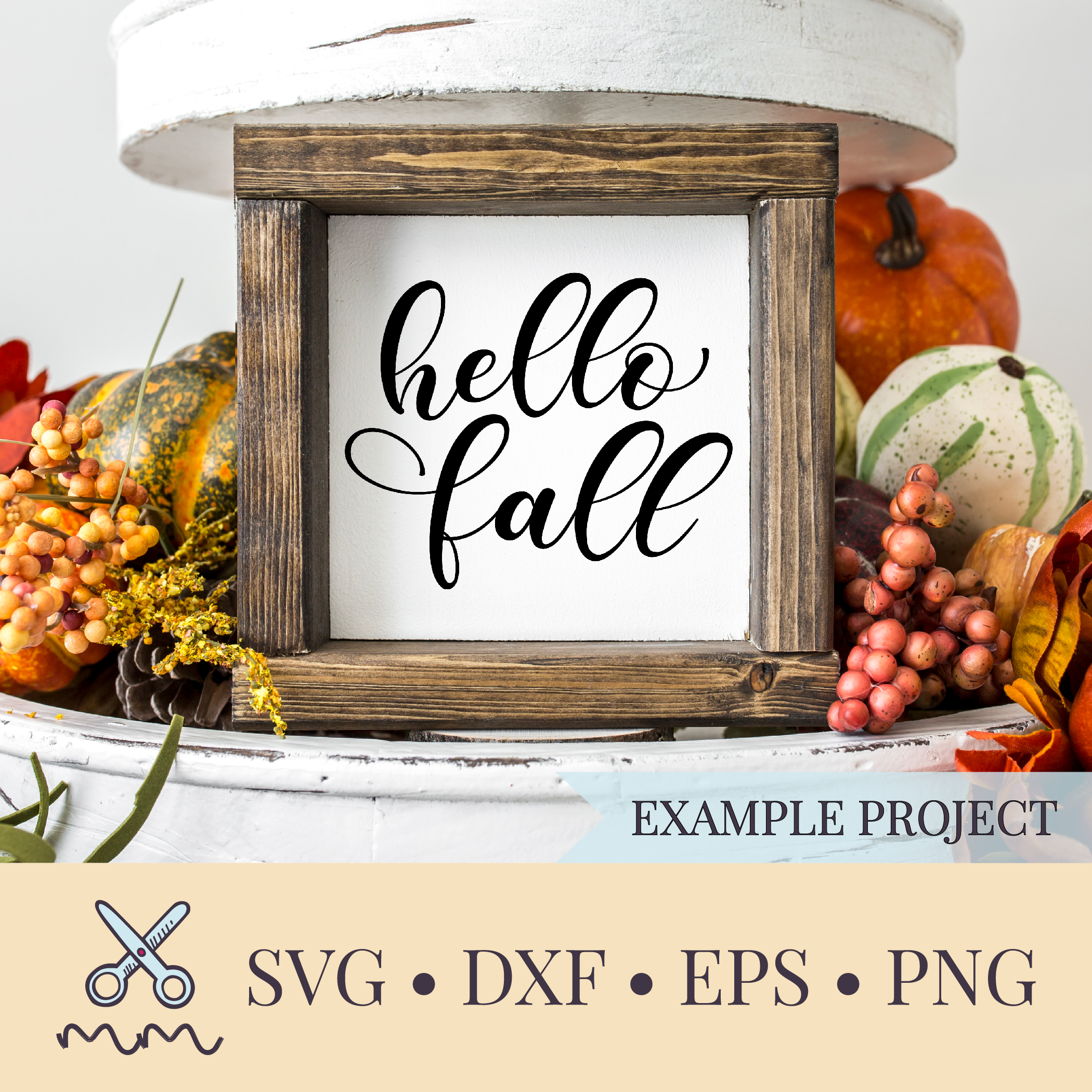 Hello Fall Svg Autumn Svg The Modish Maker