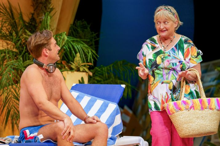 9. BENIDORM LIVE. Bradley Clarkson 'Ben' and Janine Duvitski 'Jacqueline'. Photo Paul Coltas