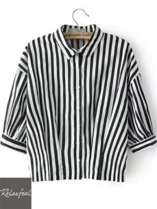 http://www.relaxfeel.com/en/black-among-white-collar-striped-shirt.html?utm_source=polyvore&utm_medium=cpc&utm_campaign=tops