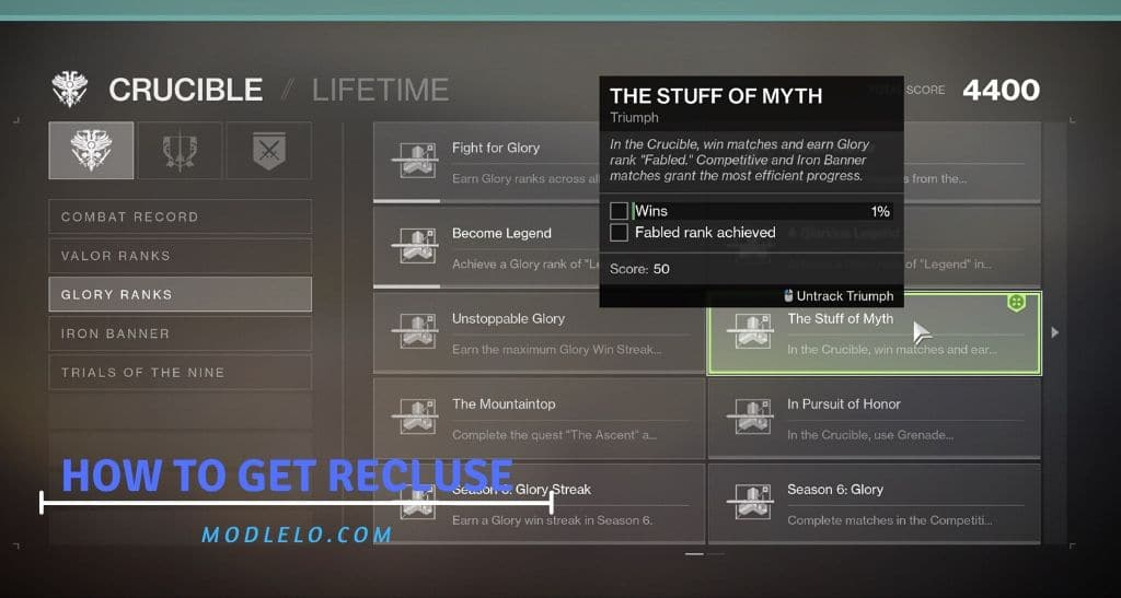 how to get recluse destiny 2