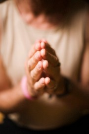 Hands in prayer pose