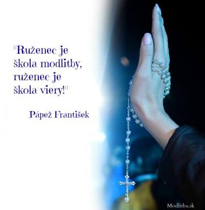 ruženec pápež