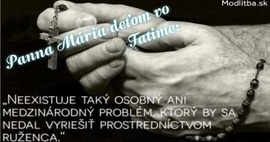 10 príkladov kedy Panna Mária povedala NIE