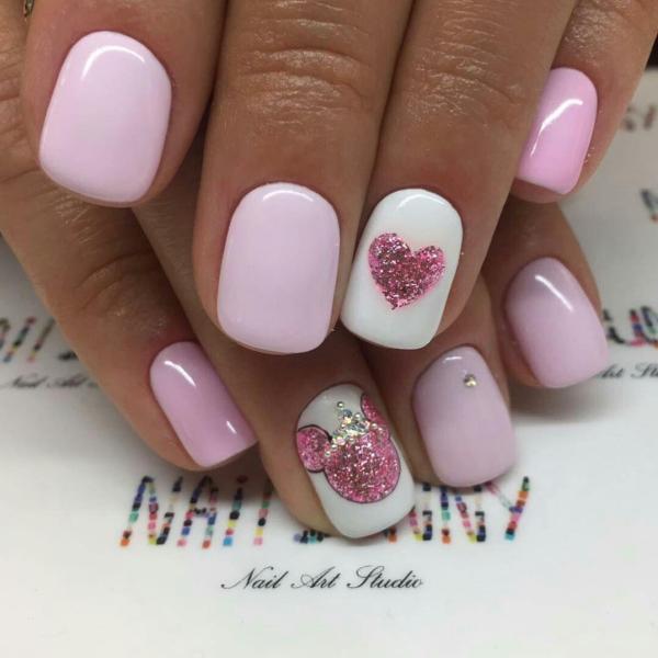 Нежные розовые ногти на день Влюбленных — Modnail.ru ...