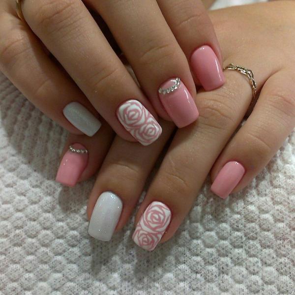 Маникюр на средние ногти: фото дизайна ногтей средней ...