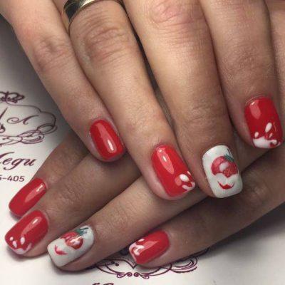Красный маникюр: фото дизайна красных ногтей 2018 года ...