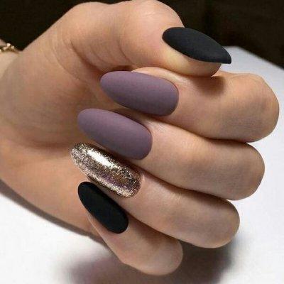 Черный маникюр: фото дизайна черных ногтей, маникюр с ...