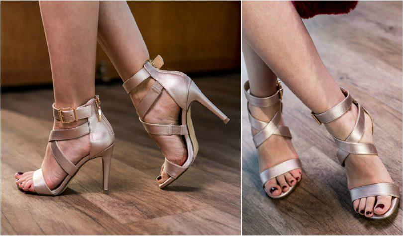 zlate-sandale-na podpatku-elegantne-topanky-deichmann-modny blog-blogerka-tmave nechty