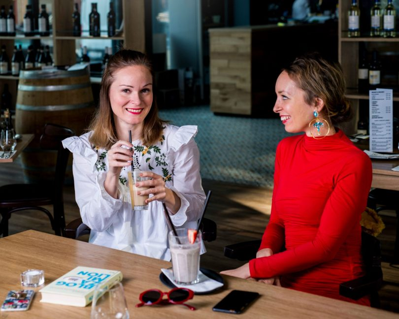 blogerky-blogerska-spolupraca-restauracia-cervene saty-biela bluzka-restauracia-u taliana