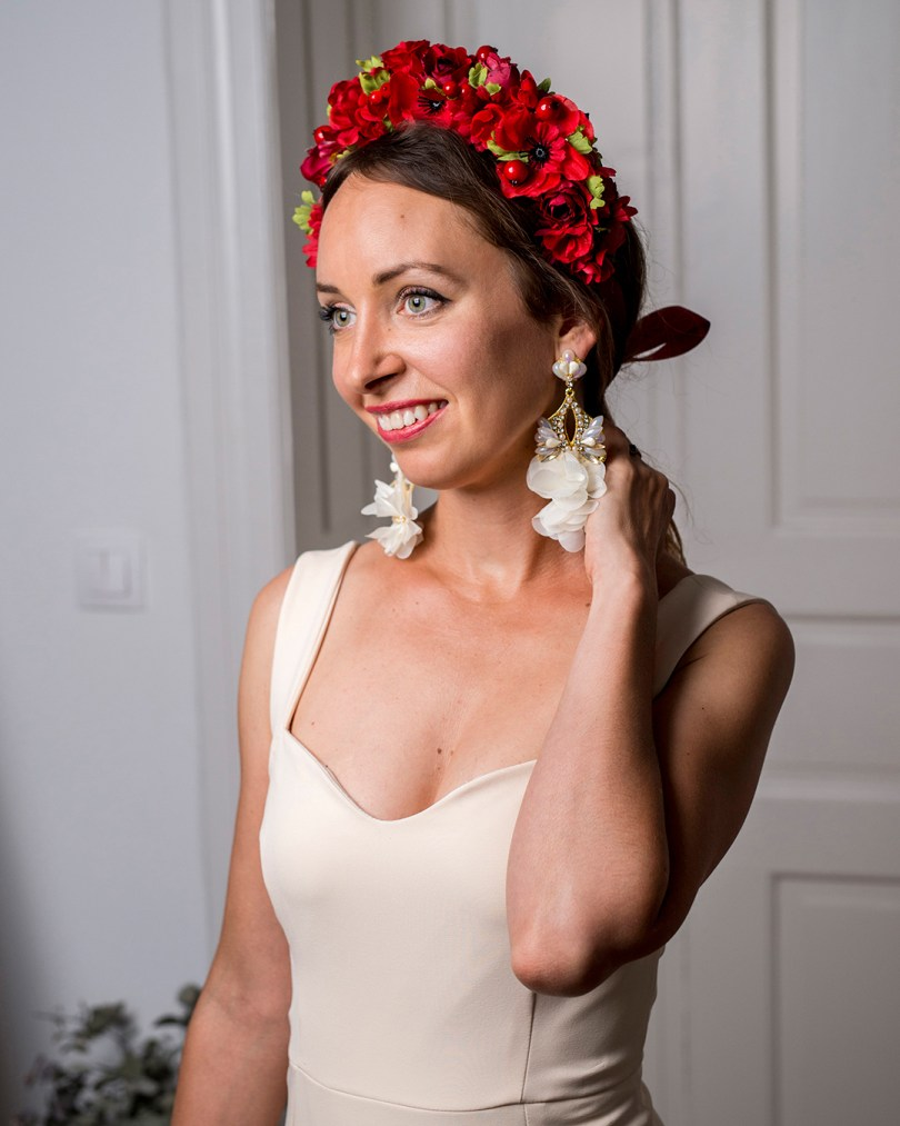 Svadobné šaty_Svadba_doplnky_celenky_kvetovane_parta_Hogo_Fogo_celenky