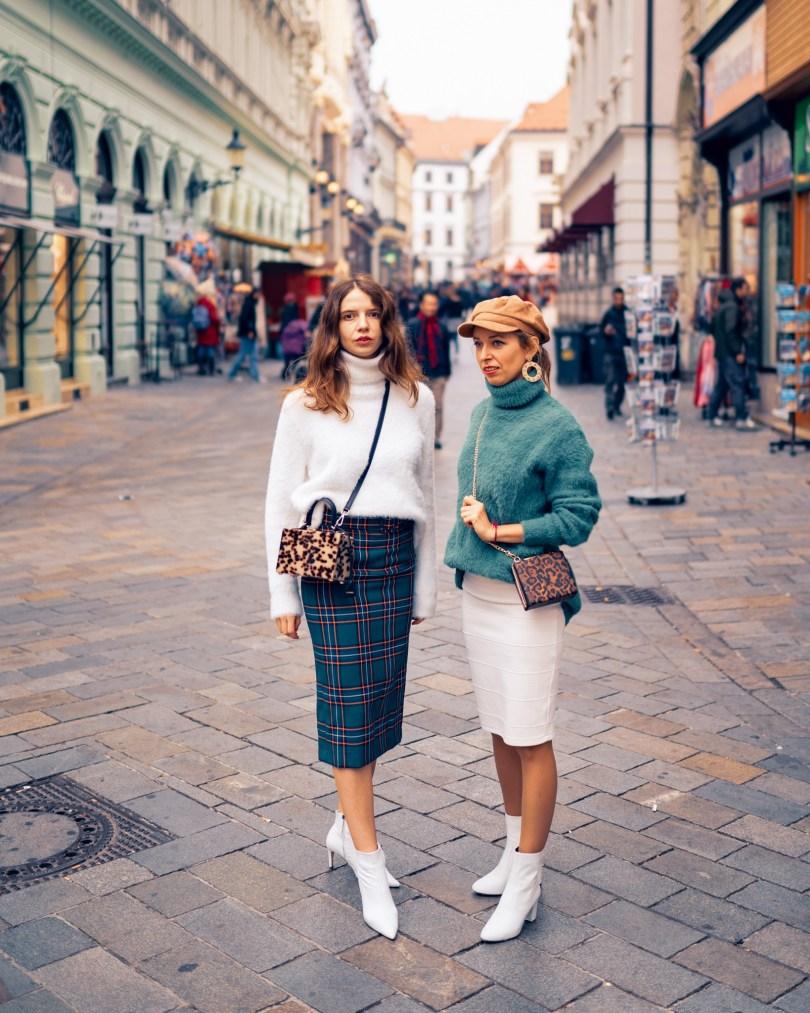 Modny tucet ako na vlastny styl sukna jesen moda rolak sveter