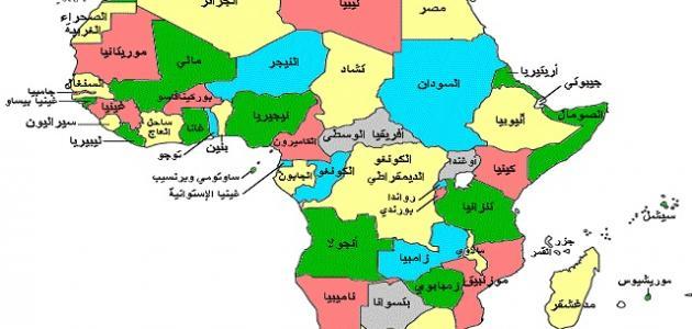 دول أفريقيا وعدد سكانها موضوع