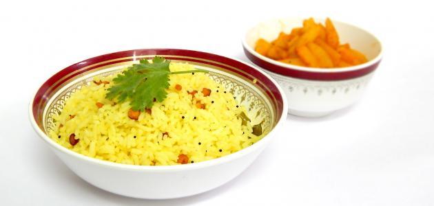 طريقة عمل أرز بسمتي أصفر موضوع