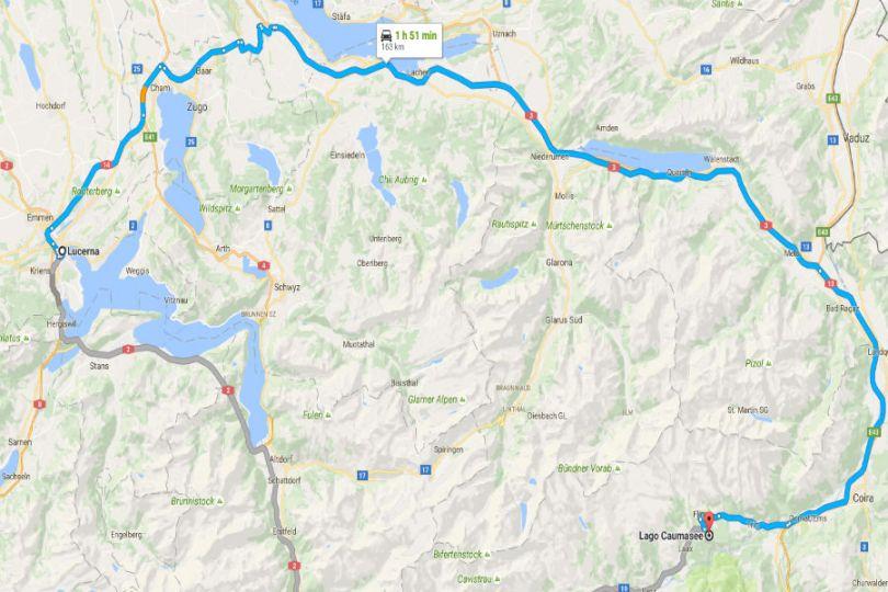 Rota Lucerna-Lago Caumasee