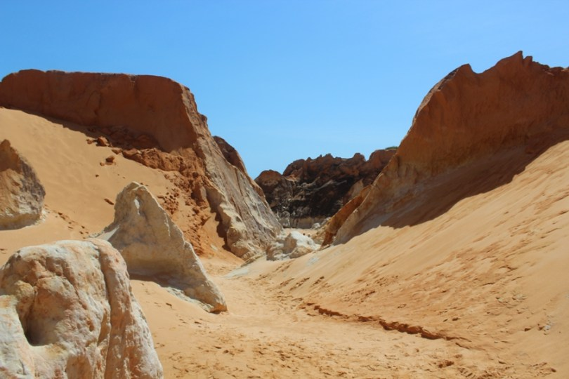 Labirinto de falésias