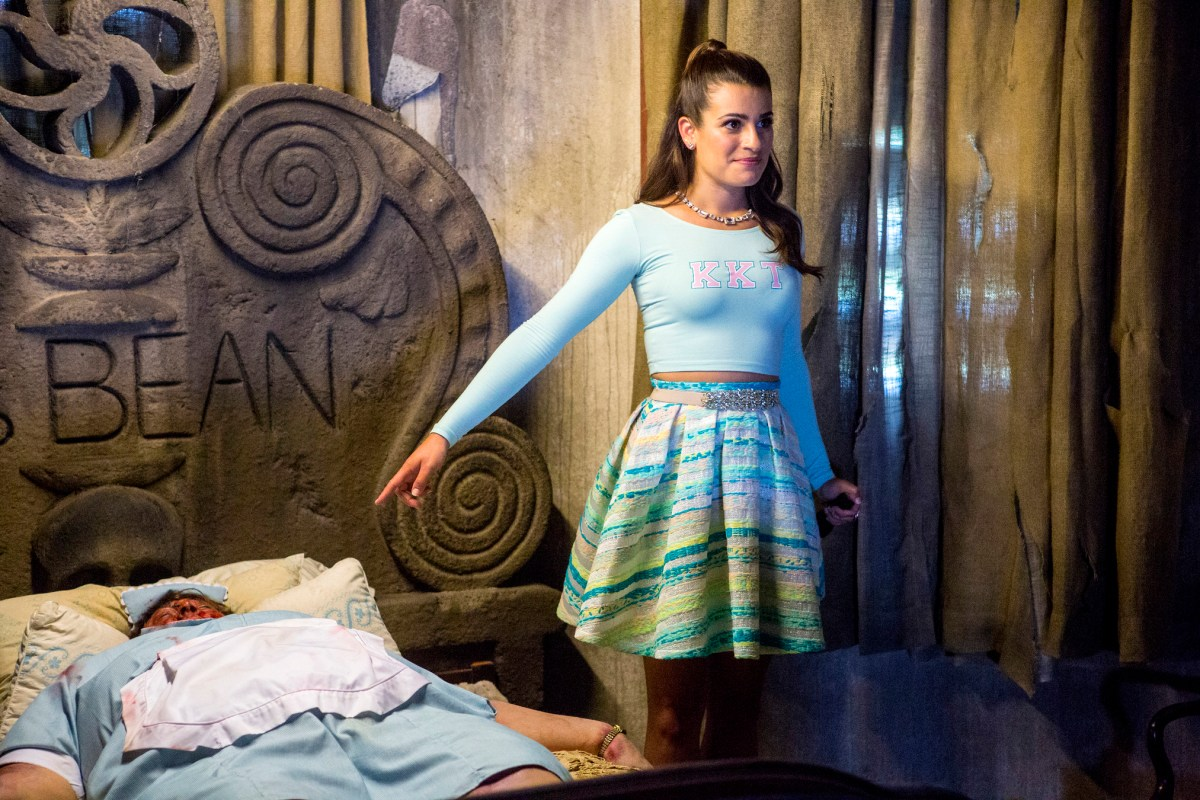 "SCREAM QUEENS: Lea Michele as Hester in the ""Haunted House"" episode of SCREAM QUEENS airing Tuesday, Oct. 6 (9:00-10:00 PM ET/PT) on FOX. ©2015 Fox Broadcasting Co. Cr: Skip Bolen/FOX."