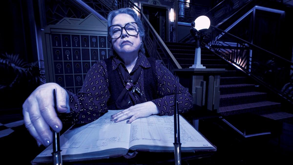 AMERICAN HORROR STORY: HOTEL -- Pictured: Kathy Bates as Iris. CR: Frank Ockenfels/FX