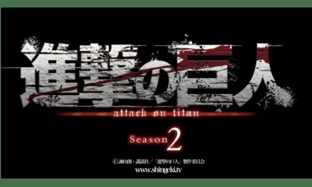 Tenemos nuevo trailer de la segunda temporada de Attack on Titan