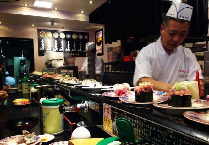 restaurante giratorio tokyo