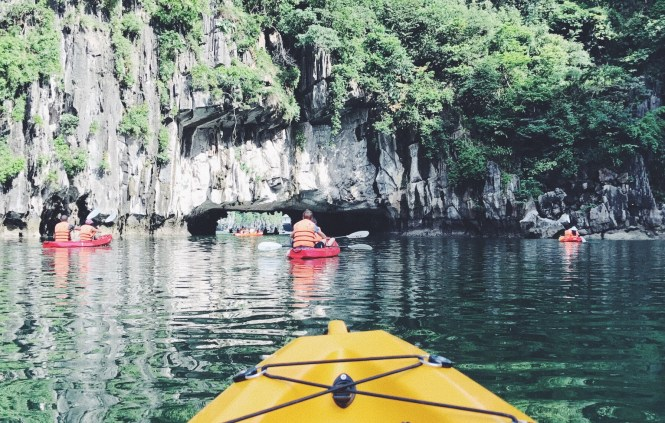 Kayak en Halong Bay