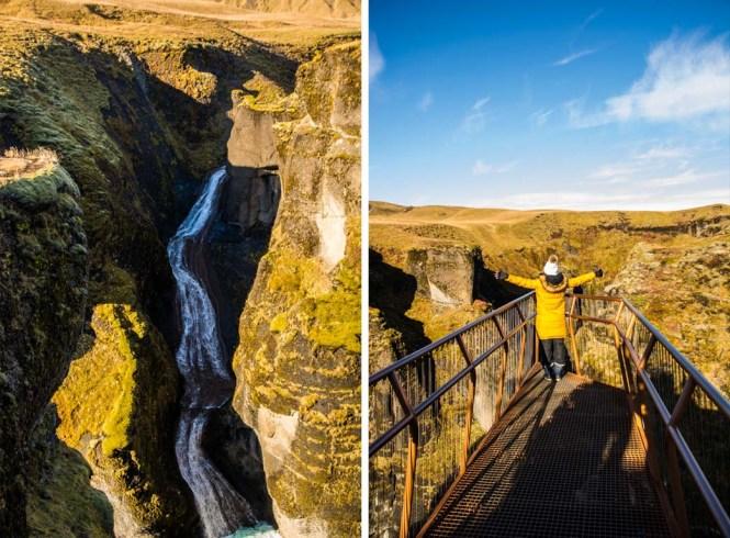 Fjaðrárgljúfur en islandia roadtrip