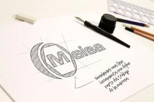 modoweb. Diseño gráfico Logotipo. Meisa media y alta tensión. Instrumentación. Puertollano. Ciudad Real.