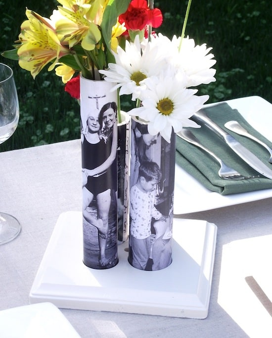 vase with pvc pipe