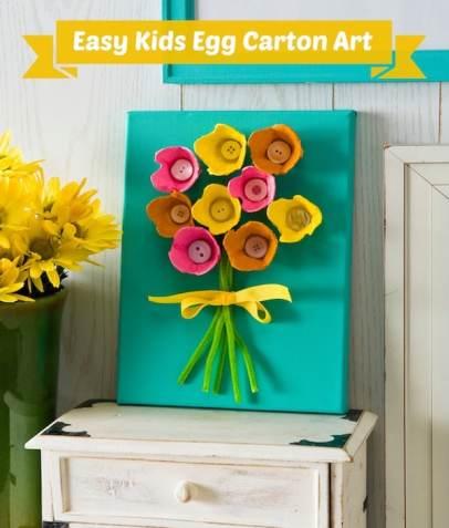 Easy kids craft - egg carton art