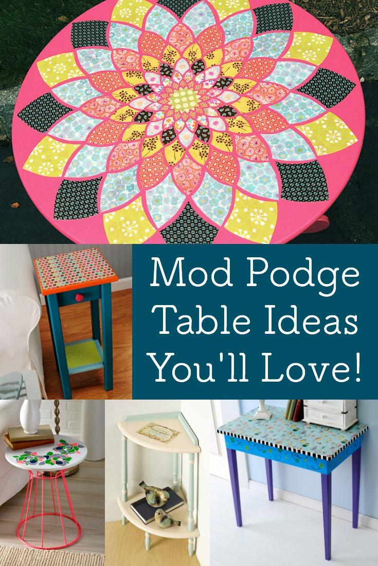mod podge table ideas you ll love mod