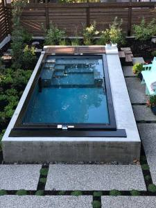 Modpool, swimming pool made from a shipping container