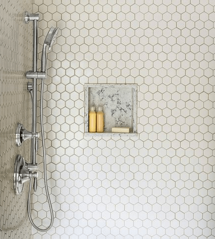 hexagonal tile for bathrooms and kitchen backsplash