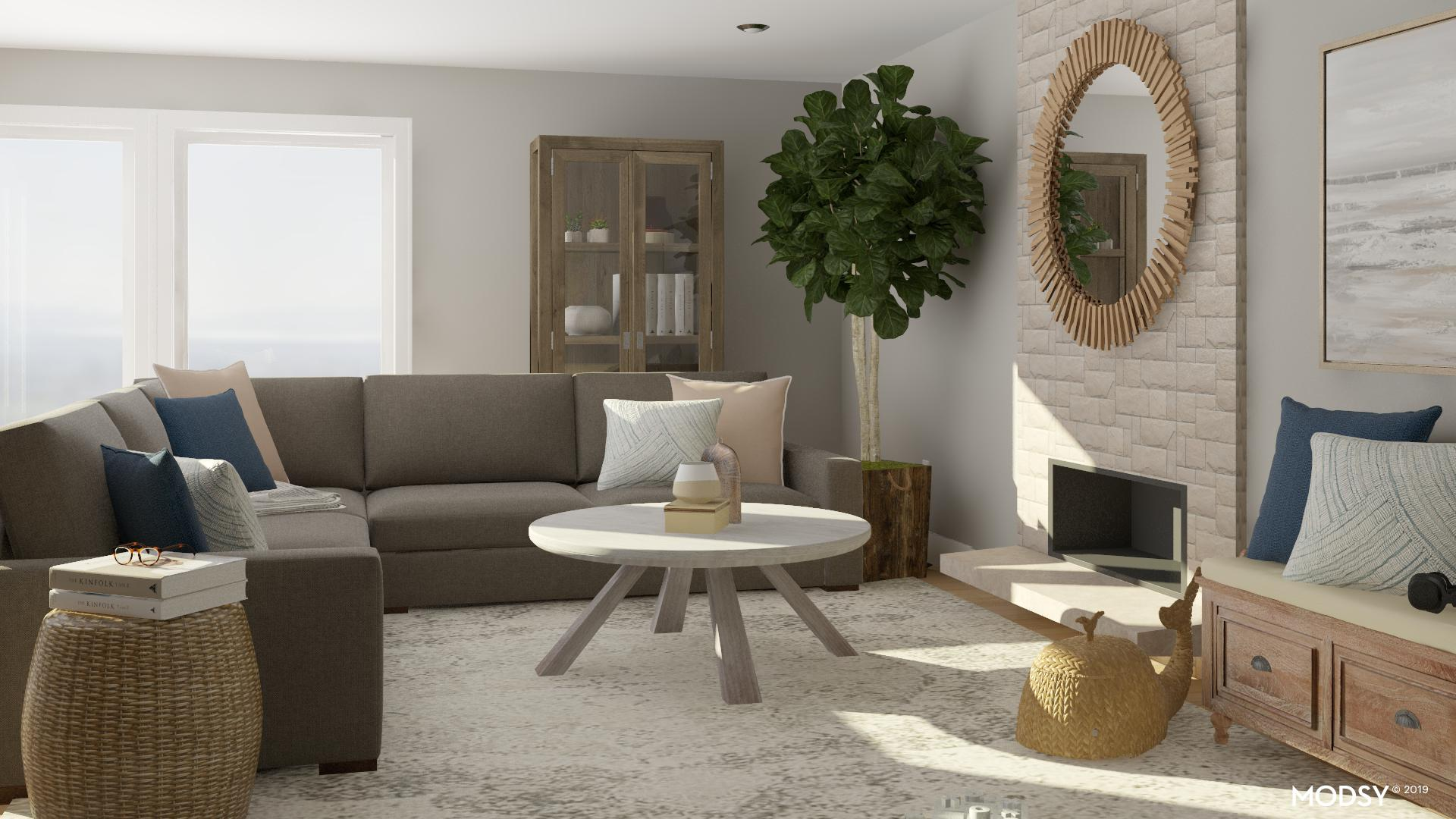 Rustic Living Room With Fireplace Rustic Style Living Room