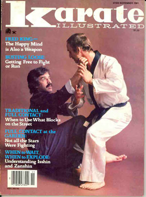 Professor King on the cover of Karate Ilustrated.