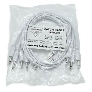 Eurorack Patch Cable_White_9-150cm_Modular Synth Lab