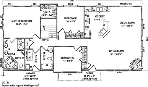 Sterling I By Wardcraft Homes Ranch Floorplan