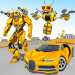 Bee Robot Car Transformation Game Robot Car Games 1.30 APK MODs Unlimited money free Download on Android