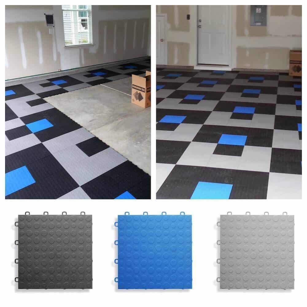 coin top garage floor tiles 12 x 12 in
