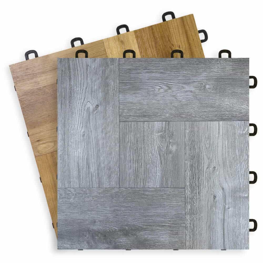 interlocking floor tiles wood vinyl top 12 x 12