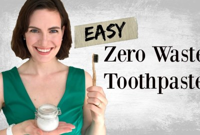 vegan easy zero waste toothpaste diy