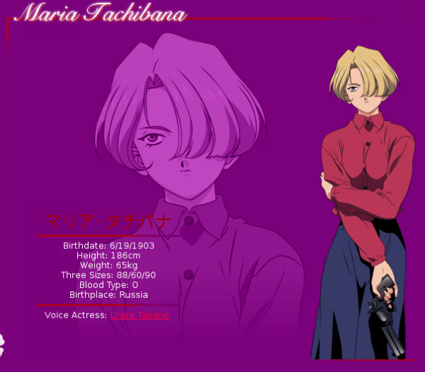 Maria Tachibana   Sakura Wars   Anime Characters Database