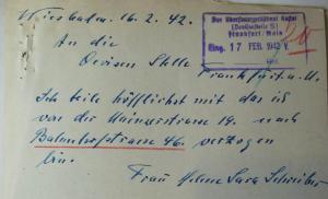 Judenhaus Wi8esbaden Bahnhofstr. 46 Dchreiber Helene